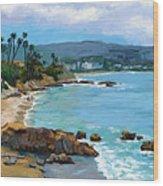 Laguna Beach Winter Wood Print by Alice Leggett