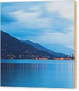 Lake Maggiore Before Sunrise Wood Print by Susan Schmitz