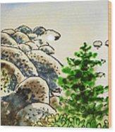 Lake Tahoe - California Sketchbook Project Wood Print by Irina Sztukowski