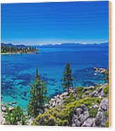 Lake Tahoe Summerscape Wood Print by Scott McGuire