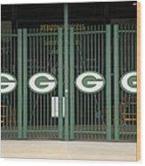 Lambeau Field - Green Bay Packers Wood Print by Frank Romeo