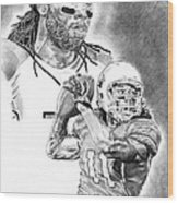 Larry Fitzgerald Wood Print by Jonathan Tooley
