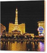 Las Vegas 012 Wood Print by Lance Vaughn
