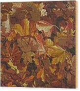Last Fall In Monroe Wood Print by Thu Nguyen