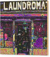Laundromat 20130731p45 Wood Print by Wingsdomain Art and Photography