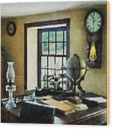 Lawyer - Globe Books And Lamps Wood Print by Susan Savad