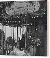 Le Carrousel Wood Print by David Rucker