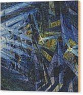 Le Forze Di Una Strada Wood Print by Umberto Boccioni
