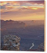 Le Grand Sunrise Wood Print by Darren  White
