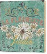 Le Marche Aux Fleurs 6 Wood Print by Debbie DeWitt
