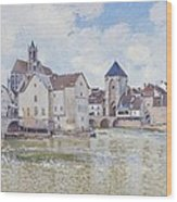 Le Pont De Moret Wood Print by Alfred Sisley