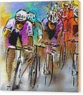 Le Tour De France 03 Wood Print by Miki De Goodaboom