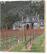 Ledson Winery And Vineyard In Late Winter Just Before The Bloom 5d22192 Wood Print by Wingsdomain Art and Photography