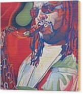 Leroi Moore Colorful Full Band Series Wood Print by Joshua Morton