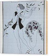 Les Sylphides Wood Print by Georges Barbier