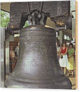 Liberty Bell Wood Print by Van D. Bucher