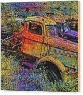 Liberty Truck Abstract Wood Print by Robert Jensen
