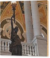 Library Of Congress - Washington Dc - 011311 Wood Print by DC Photographer