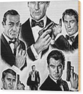 Licence To Kill  Bw Wood Print by Andrew Read