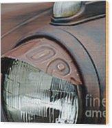 License Tag Eyebrow Headlight Cover  Wood Print by Wilma  Birdwell