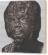 lieutenant commander Worf Star Trek TNG Wood Print by Giulia Riva