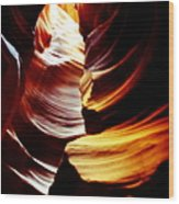 Light From Above - Canyon Abstract Wood Print by Aidan Moran