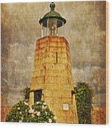 Lighthouse - La Coruna Wood Print by Mary Machare