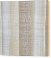 Linen Curtain Wood Print by Tom Gowanlock