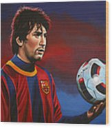 Lionel Messi  Wood Print by Paul Meijering