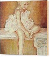 Little Ballerina Wood Print by Carole Spandau