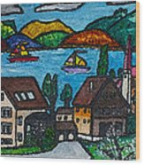 Little Bit Of Swiss Wood Print by Monica Engeler
