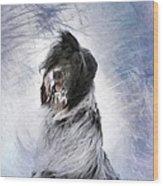 Little Doggie In A Snowstorm Wood Print by Gun Legler