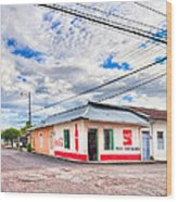 Little Pulperia On The Corner - Costa Rica Wood Print by Mark E Tisdale