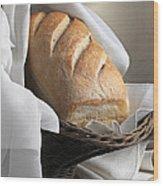 Loaf Of Bread Wood Print by Krasimir Tolev