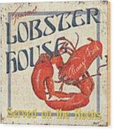 Lobster House Wood Print by Debbie DeWitt