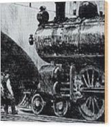 Locomotive Wood Print by Edward Hopper