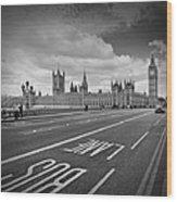 London - Houses Of Parliament  Wood Print by Melanie Viola