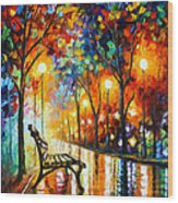 Loneliness Of Autumn Wood Print by Leonid Afremov