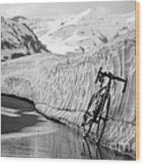 Lonely Bike Wood Print by Maurizio Bacciarini