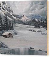 Lonely Cabin Wood Print by John Koehler