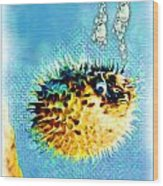 Long-spine Fish Wood Print by Daniel Janda
