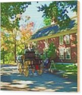 Longfellows Wayside Inn Wood Print by Barbara McDevitt