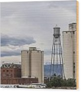 Longmont Sugar Mill Wood Print by Aaron Spong