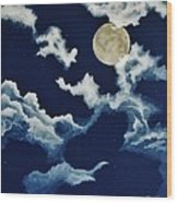Look At The Moon Wood Print by Katherine Young-Beck