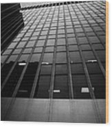 Looking Up At 1 Penn Plaza On 34th Street New York City Usa Wood Print by Joe Fox