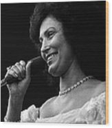 Loretta Lynn Singing  Wood Print by Retro Images Archive