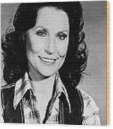 Loretta Lynn Smiling Wood Print by Retro Images Archive