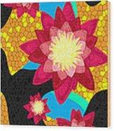 Lotus Flower Bombs In Magenta Wood Print by Kenal Louis