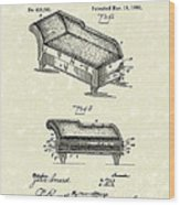 Lounge 1890 Patent Art Wood Print by Prior Art Design
