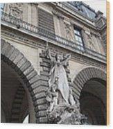 Louvre - Paris France - 011331 Wood Print by DC Photographer